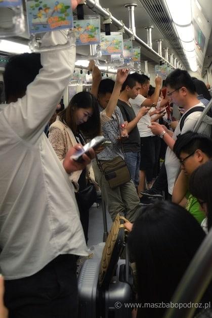 Metro chińskie. Typowy obrazek.