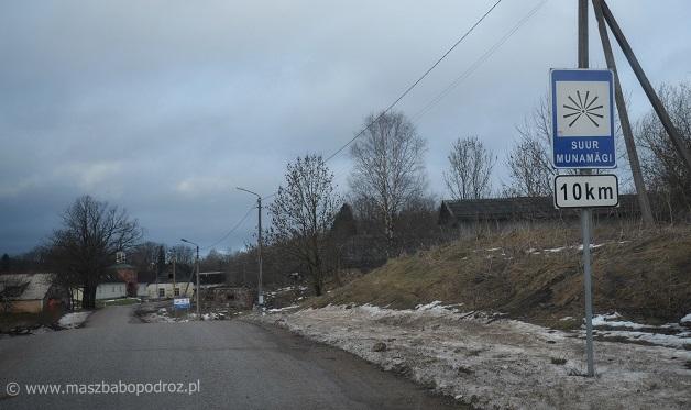 Dojazd do Suur Munamägi. Estonia.