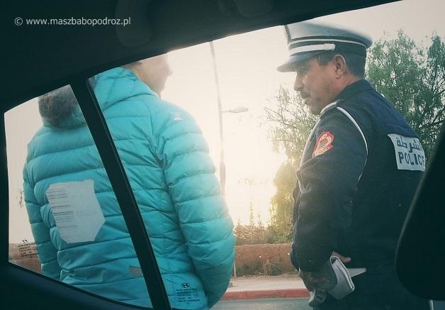 Maroko. Kontrole policyjne.